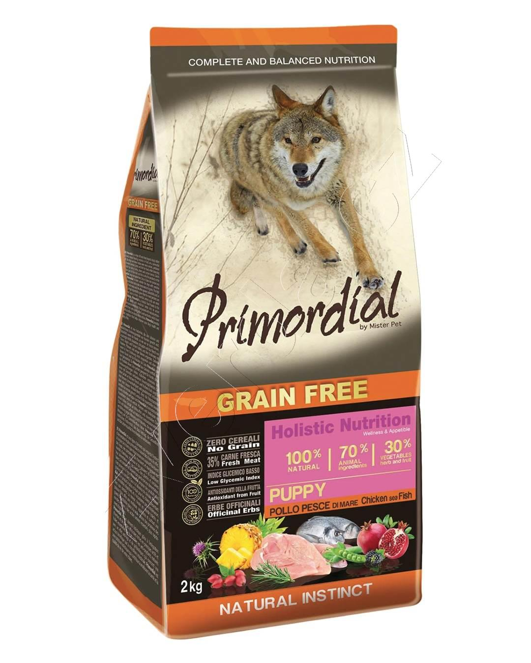 Primordial Grain Free Puppy Chicken & Sea Fish 12kg 2x