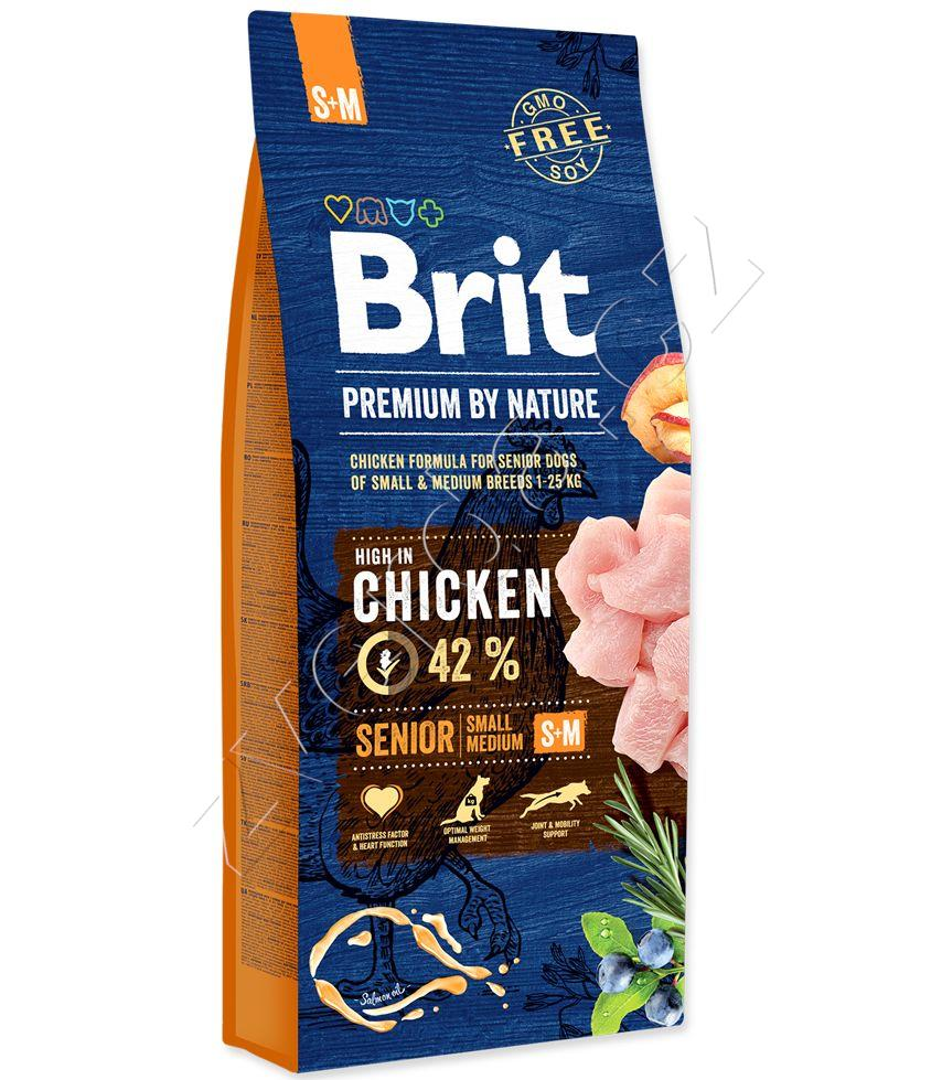 Brit Premium Dog by Nature Senior S+M 3kg