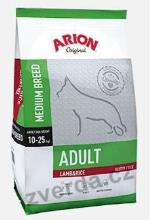 Arion Dog Adult Medium Lamb Rice 12kg