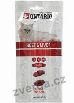 ONTARIO Stick for cats Beef & Liver 15g
