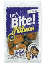 Brit Lets Bite Rolls o`Salmon 80g