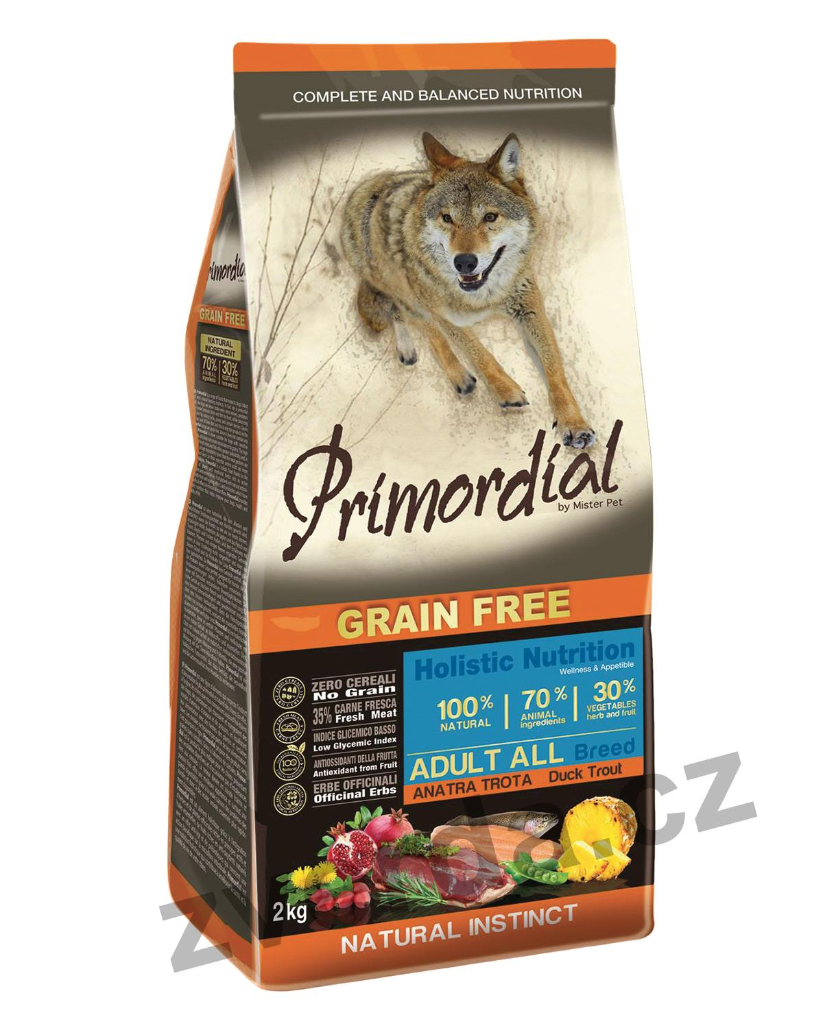 Primordial Grain Free Adult Trout & Duck 12kg