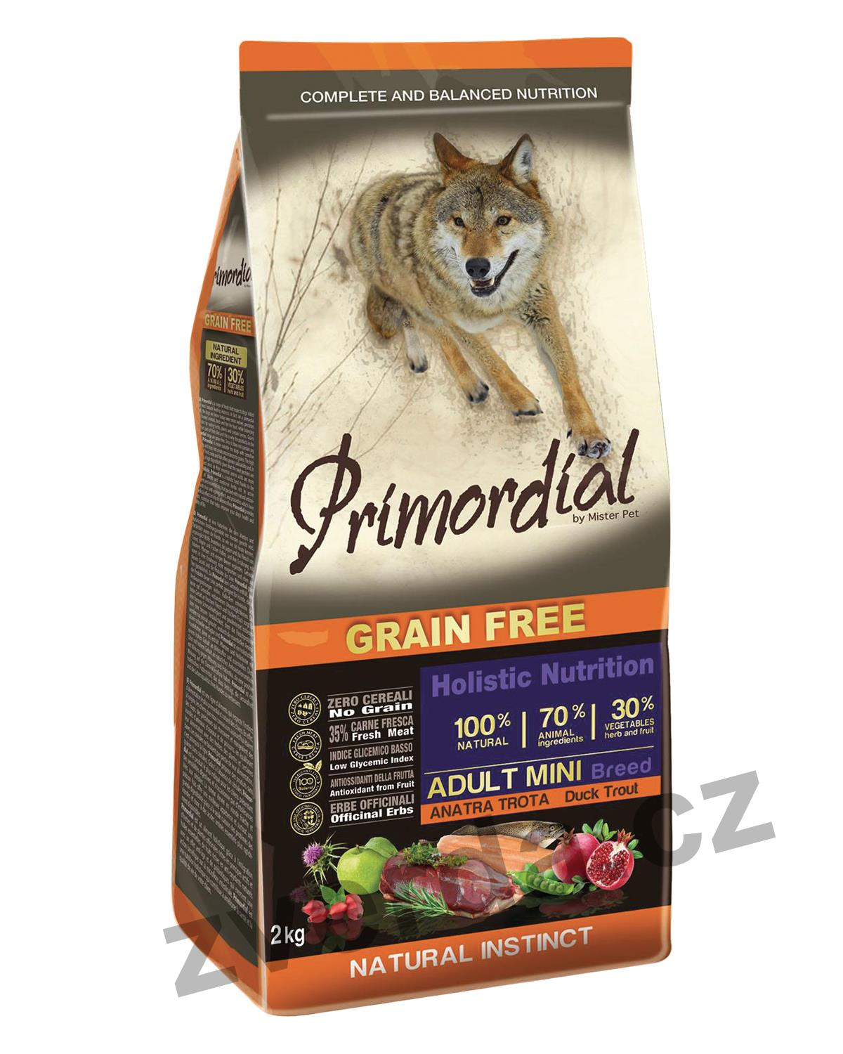 Primordial Grain Free Mini  Adult Trout & Duck 2kg
