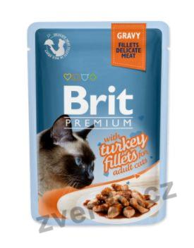 Brit Premium Cat D Fillets in Gravy With Turkey 85g