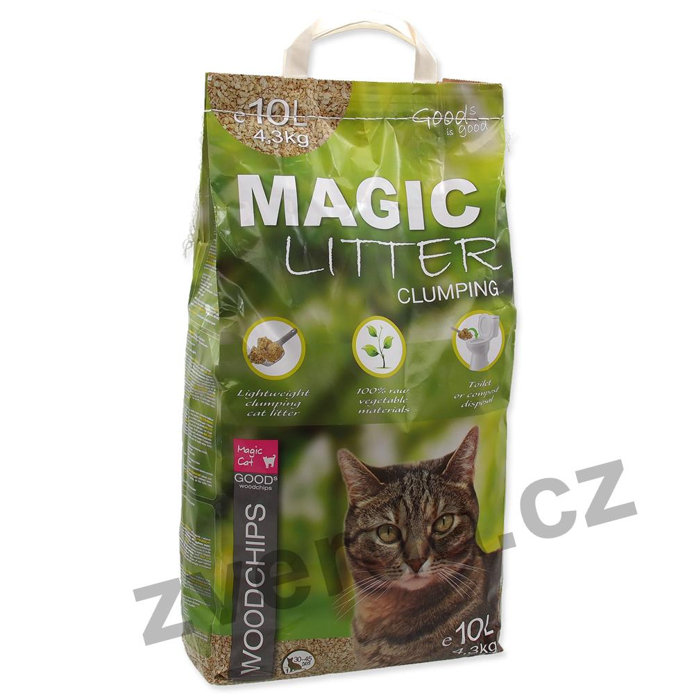 Kočkolit MAGIC CAT Litter Woodchips 10l
