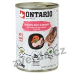 Konzerva ONTARIO Kitten Chicken, Shrimp, Rice and Salmon Oil 400g