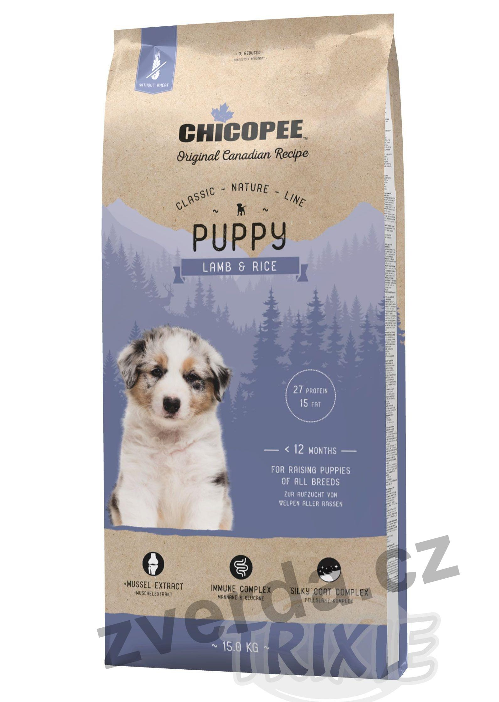 Chicopee Classic Nature Mini Puppy Lamb-Rice 15 kg
