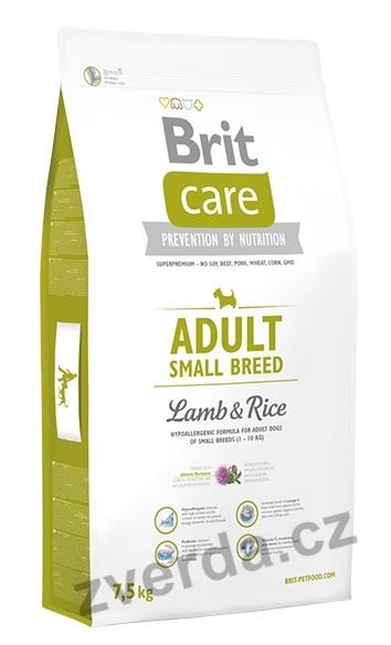 Brit Care Dog Adult Small Breed Lamb & Rice 1kg